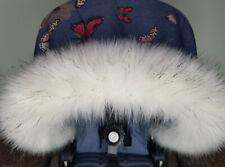 Cappuccio di pelliccia pelliccia per bambole CARROZZINE in Bianco PELLICCE