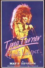 Tina Turner autographed concert poster