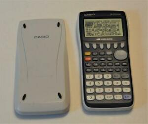 Casio fx-9750GII USB Power Graphic Calculator works great w cover, battery door