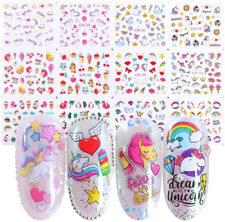 Unicorn Nail Art Stickers for Girls 12 Sheets Cute Nail Beauty Supplies Decals U
