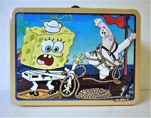 Spongebob Squarepants nautical themed lunchbox/carry tin - b01373
