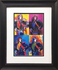 "Peter Max ""Mick Jagger 90-95"" New CUSTOM FRAMED Print Art POP The Rolling Stones"
