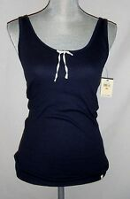 Lucky Brand Women's Shirt Casual Layers Rib Tank Top Navy Blue NWT Size Small
