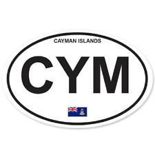 CAYMAN ISLANDS COUNTRY OVAL BUMPER STICKER OVAL 120mm x 78mm