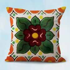 Us Seller-Mexican talavera Spainish cushion cover interior decoration home