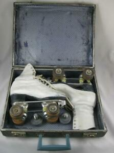 Vintage Douglass Snyder with Lytle Boots Roller Skates Size 6 1/2 White