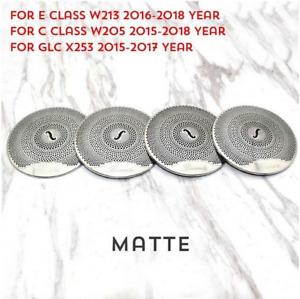4pcs for Mercedes Benz Interior Trim Door Audio Speaker Covers Matte W205 GLC