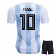 Argentina Home 2018 Soccer Jersey/Shorts/Socks Messi #10 (13-14 Years) NEW