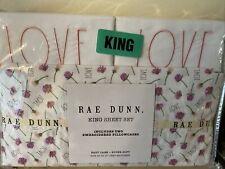 Rae Dunn King Sheet Sweet Love Flowers Set Nwt! Easy Care Super Soft!