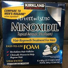 Mens KIRKLAND Compare To Rogaine 5% Topical Foam 6 Month Supply 6 Cans NOV2018