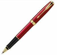 Perfect Parker Sonnet Series Red Color Golden Clip 0.5mm F Nib Rollerball Pen
