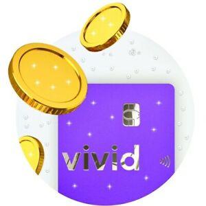 Vivid Money Bank • Virtuelle Visa Metallkarte • 30€ Eröffnung + 150€ Cashback