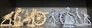 PLASTIC PLATOON American revolution Cannons British sodiers vs People's Militia