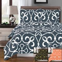 100% Cotton Victoria Ultra Soft Print Duvet Cover Set with 2 Pillow Shams