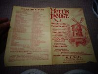 Ancienne Partition John Huston Le MOULIN ROUGE Paris George Auric Jacques Larue