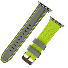 iWatch Gray Green Silicone watch Strap Band compatible with iWatch 42mm