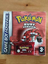 Pokémon Ruby Version GBA Gameboy Advance Cartridge + Original box