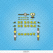 De Rosa Bicycle Decals - Transfers - Stickers - Yellow & Black Text - Set 0631