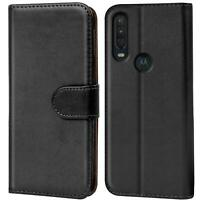 Book Case für Motorola One Action Hülle Tasche Flip Cover Handy Schutz Hülle