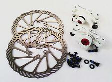 Bike Mechanical Disc Brake Front Rear Calipers Rotors 160mm Bolts BB5 Pads Set
