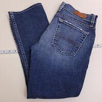 Lucky Brand Sundown Straight Cropped Jeans Women's Size 6/28 Denim Medium Wash