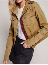 NWT Free People Shrunken Officer Military Jacket Size XS $168 Color Sand