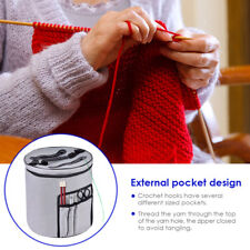 Knitting Bags Yarn Storage Tote Carry Crochet Hook Knitting Needle Organizer