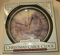 Thomas Kincade Painter of light Christmas Carol Clock The Night Before Christmas