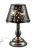 Electric Oil Wax Tart Melt Warmer Lamp Black Celestial Design Touch Control