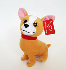 "Dog Puppy Chihuahua 8.5"" with Sound  soft plush animal stuffed toy  New"