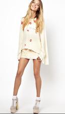 WILDFOX Love Junkie Lips Print Cotton Blend Long Bell Sleeve Top Sz M Worn once
