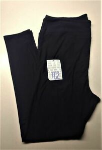 TC2 (18+) Plus Size LuLaRoe Leggings Beautiful Solid Black  Noir Collection New
