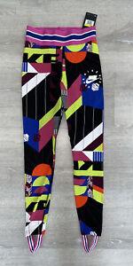 Nike NSW Sportswear Multi-Color AOP Leggings AR9856-010 Women's Size Small