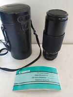 Canon Fd Zoom Lens X405 70-210mm 1:4 With Case Manual
