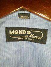Mondo di Marco Dress Shirt Made in Italy 16 34/35 Blue