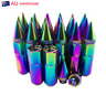 20PCS Extended Tuner Lug Nuts For Wheel Rims With Spike M12X1.5 60mm Neo-Chrome
