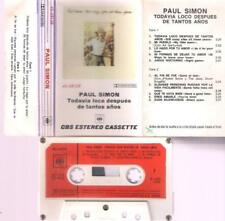 PAUL SIMON Todavia loco despues RARE SPANISH TITTLES CASSETTE PAPER LABEL SPAIN