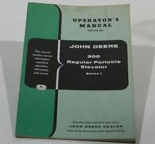 John Deere Operators Manual 300 Portable Elevator Series 1