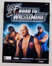 WrestleMania Video Game Poster Undertaker Steve Austin WWF Wrestling 9x11