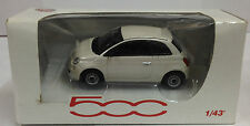 Norev 1:43 Scale Fiat 500 Die Cast Model Car White RARE MODEL
