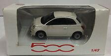 Norev 1:43 Scale Fiat 500 Die Cast Model Car White RARE MODEL
