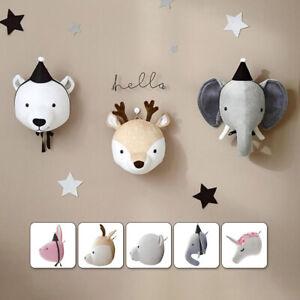 3D Felt Elephant Head Animals Head Toys Kids Bedroom Wall Hangings Decoration