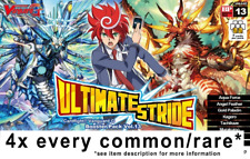 CARDFIGHT VANGUARD Ultimate Stride G-BT13  ENG 4x COMMON/RARE ENGLISH PLAYSE