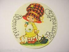ADESIVO anni '80 / Old Sticker Vintage BONNIE BONNETS (cm 8)