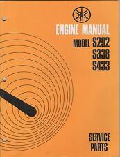 1972 SNO JET ENGINE  S292,S338,S433 SERVICE PARTS USED