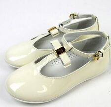 New Authentic Gucci Kids Ballet Flat w/Bow, 32/US 1, White, 285313