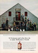 1961 Ballantine PRINT AD Whiskey Scotch Manufacturer Employees Elgin, Scotland