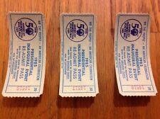 THREE 1985 PRESIDENT RONALD REAGAN INAUGURATION Event Re-Admit Passes Tickets