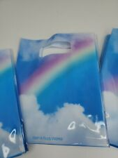 Bath & Body Works Vinyl Cloud Rainbow Unicorn Gift Christmas Bags x3 NWT RARE