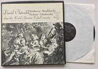 DAVID OISTRAKH Plays Worlds Greatest Violin Concerto 3LP U.S. Murray Hill EX/VG+